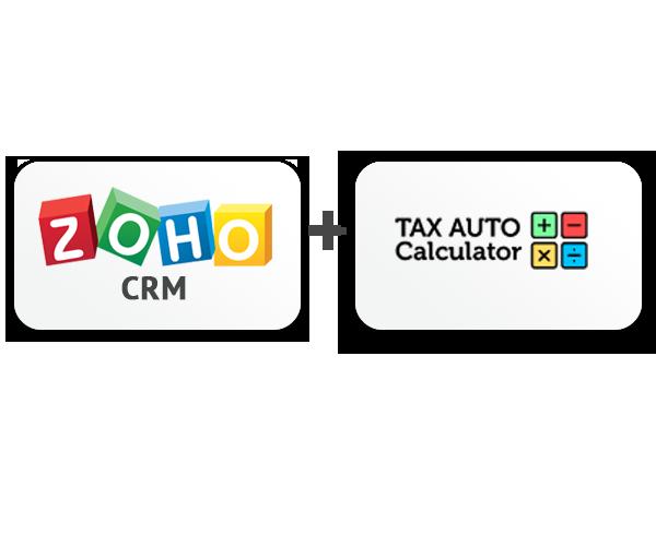 Zoho CRM tax auto calculation