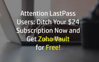 Get Zoho Vault for Free
