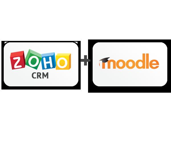Zoho and Moodle Logo