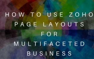 Zoho Page Layouts