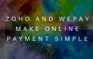 Zoho & WePay online payment