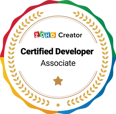 Zoho Developer Certificate