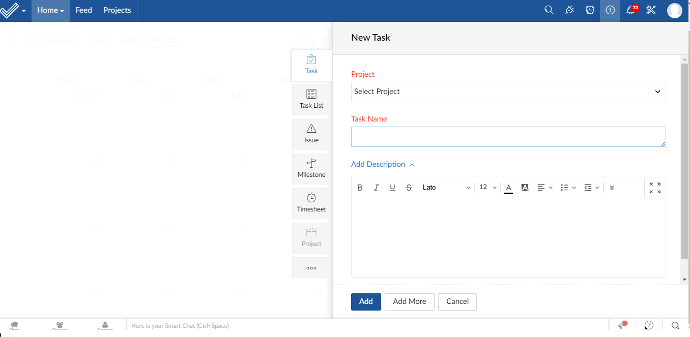 task-with-zoho-projects