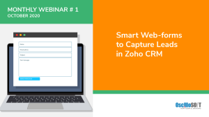 image showing smart webforms used in zoho crm
